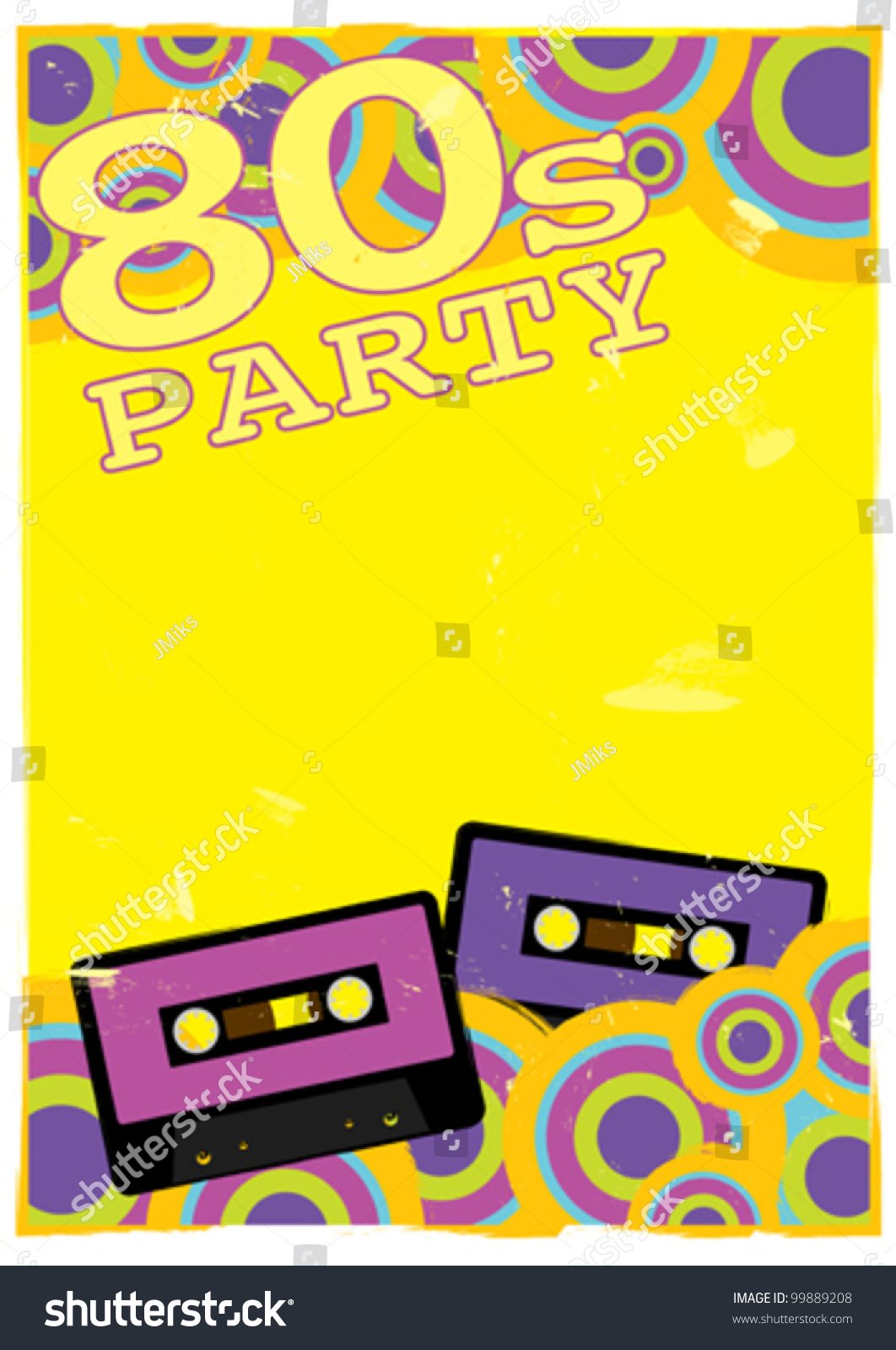 Retro poster template 80 s party flyer stock vector royalty free retro poster template 80s party flyer with audio cassette tape maxwellsz