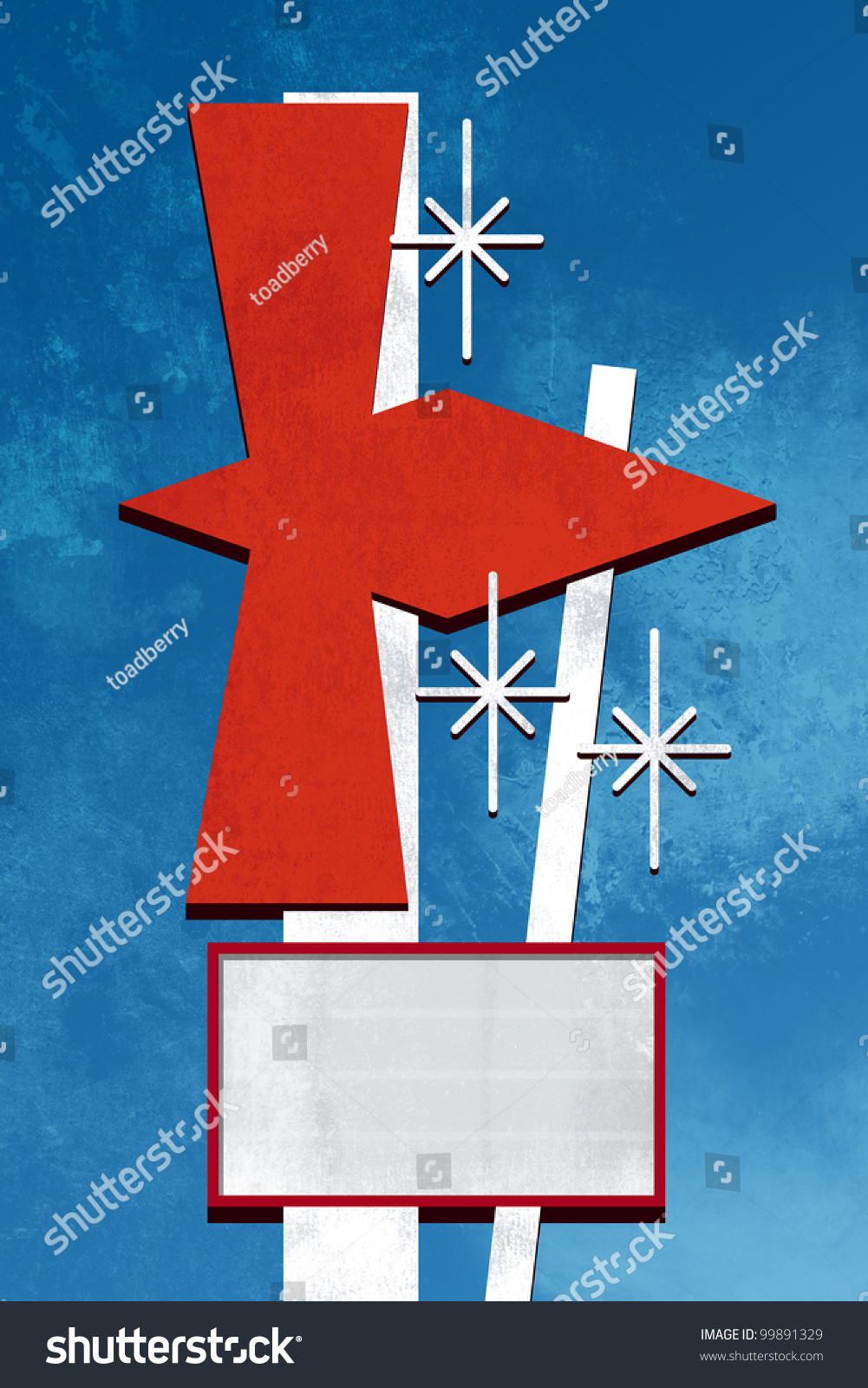 Retro Sign Design Stock Photo 99891329 : Shutterstock