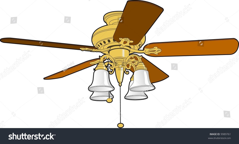 ceiling fan stock vector illustration 9989761 shutterstock. Black Bedroom Furniture Sets. Home Design Ideas