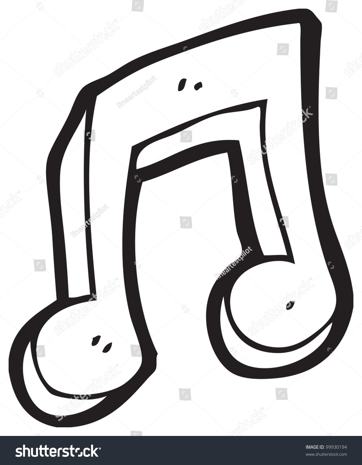 Cartoon Music Note Stock Illustration 99930194 - Shutterstock