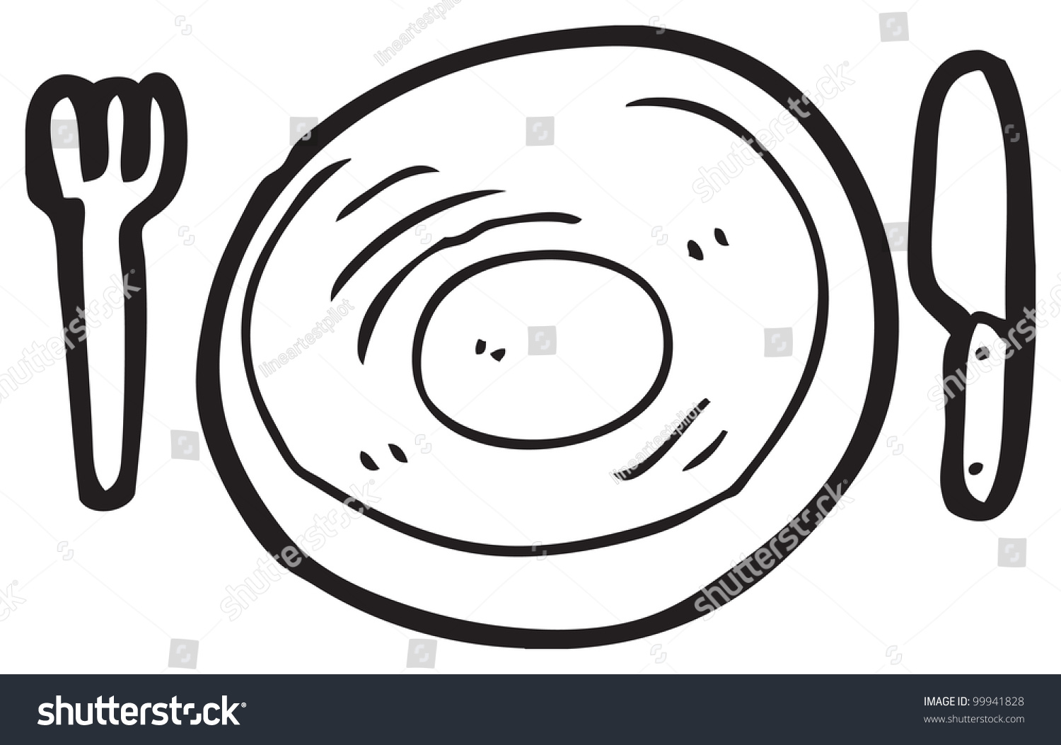 dinner plate cartoon  sc 1 st  Shutterstock & Dinner Plate Cartoon Stock Illustration 99941828 - Shutterstock