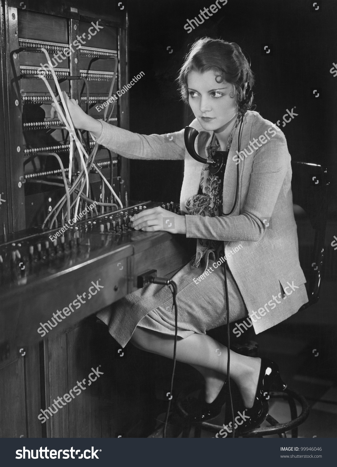 switchboard fotografie snímky a obrázky shutterstock portrait of telephone operator stock photo