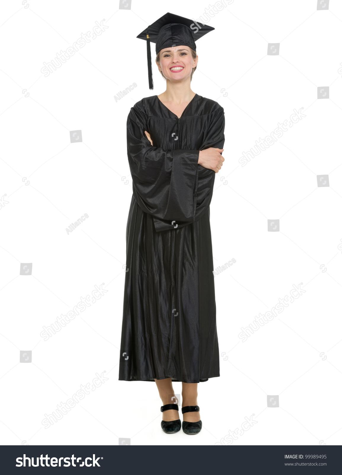Full Length Portrait Woman Graduation Cap Stock Photo 99989495 ...